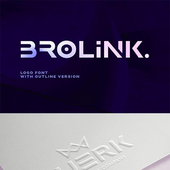 Brolink - Wide Logo Font