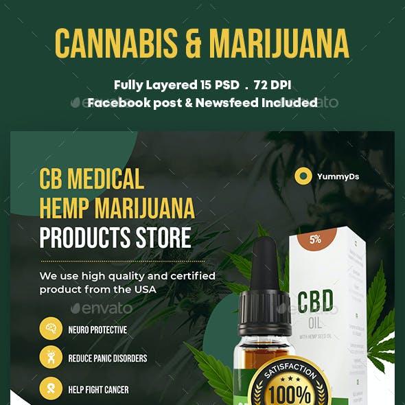 Cannabis & Marijuana Banners Ad