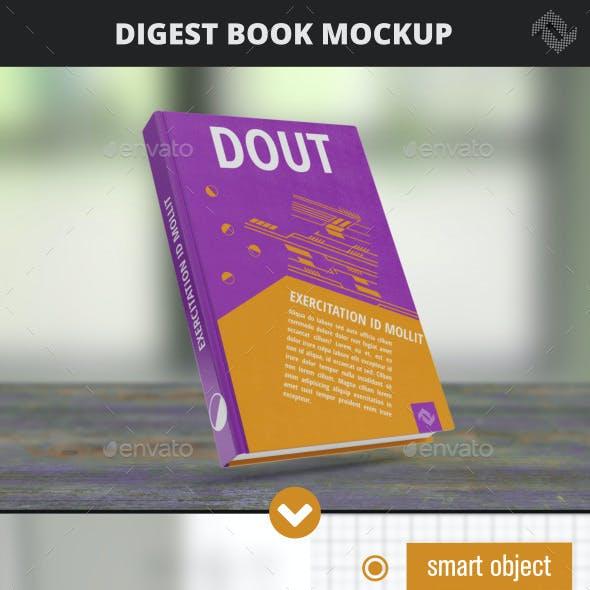 Digest Hard Cover Book Mockup