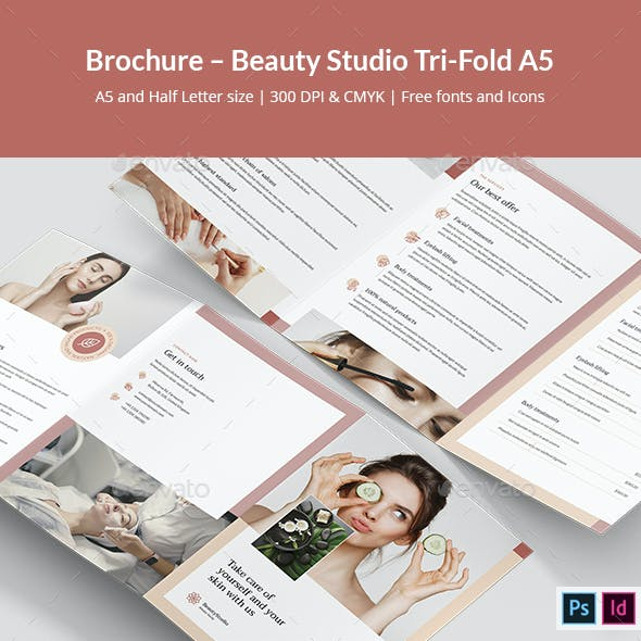 Brochure – Beauty Studio Tri-Fold A5