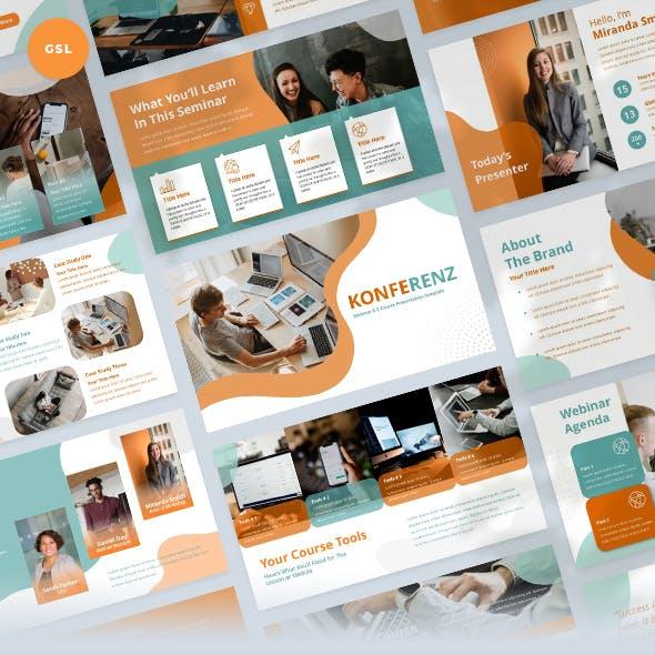 Webinar & Ecourse Slides Presentation Template