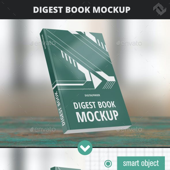 Digest Soft Cover Book Mockup