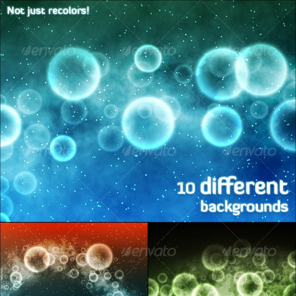 Ethereal Bubbles Background Pack