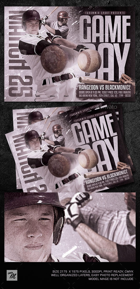 Baseball Game Day Flyer - Sports Events