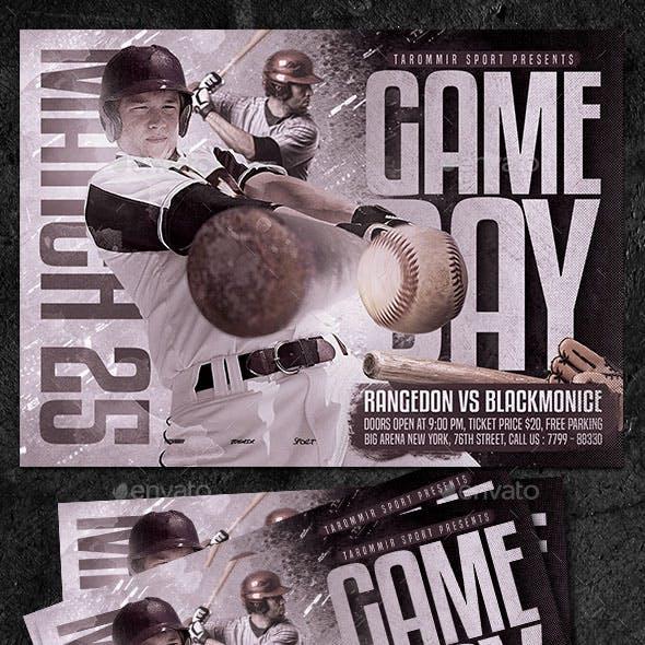 Baseball Game Day Flyer