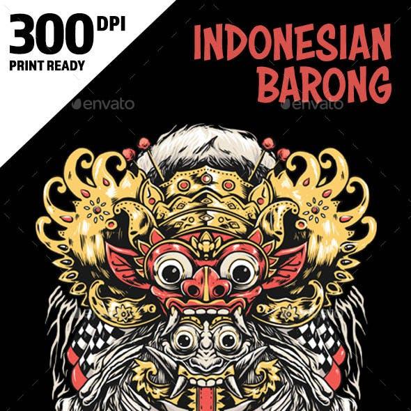 Indonesia Bali Barong Mask