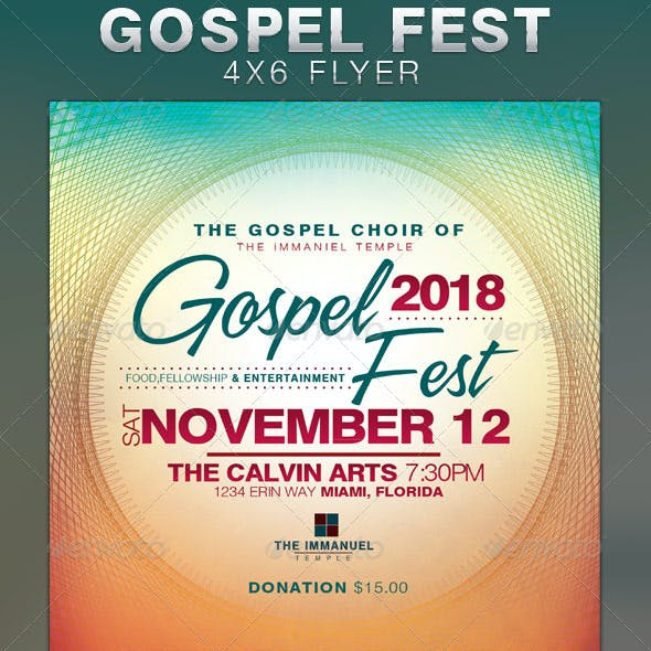 This Gospel Fest Church Flyer Template