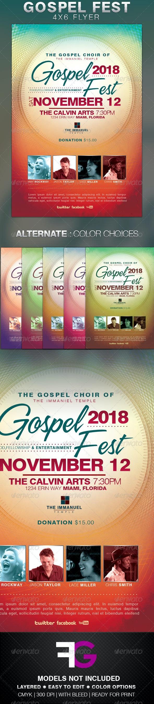 This Gospel Fest Church Flyer Template  - Church Flyers