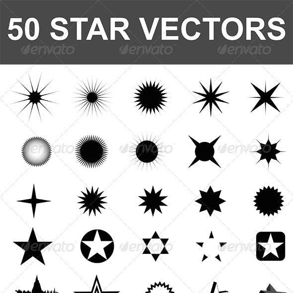 50 Star Vectors