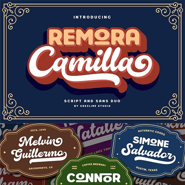 Remora Camilla - Display Font Duo