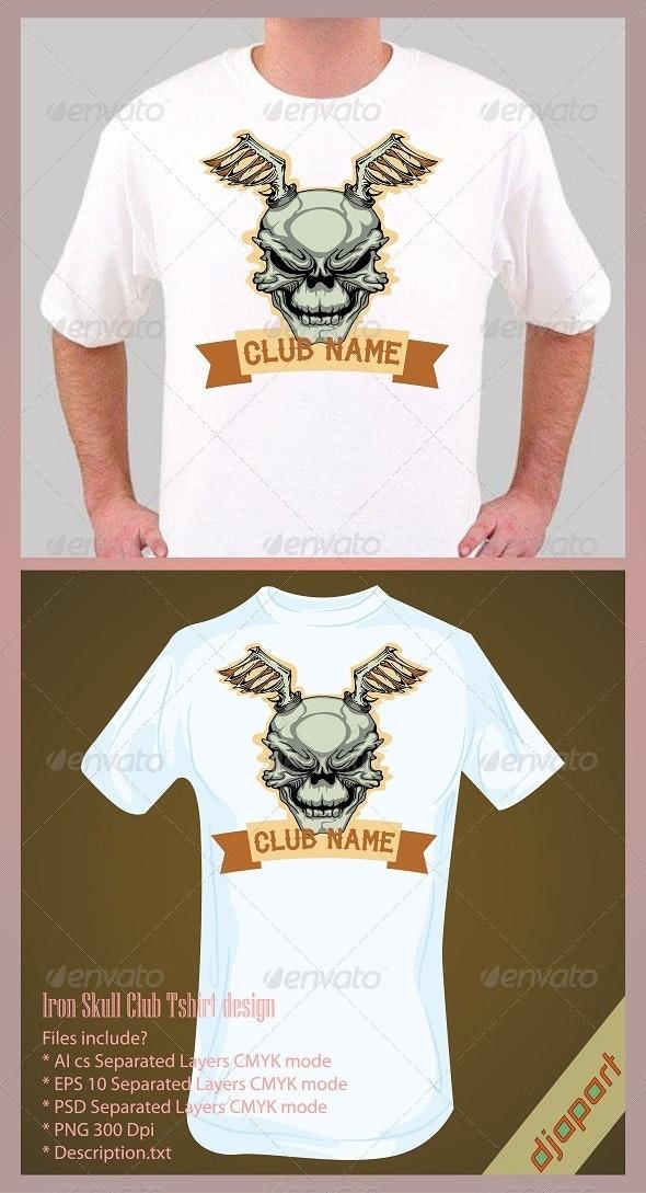 Iron Skull T shirt design - Grunge Designs