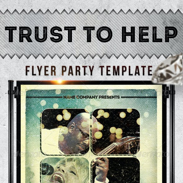 Trust To Help Flayer Template