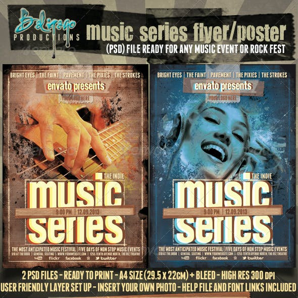 Music Series Poster - Flyer