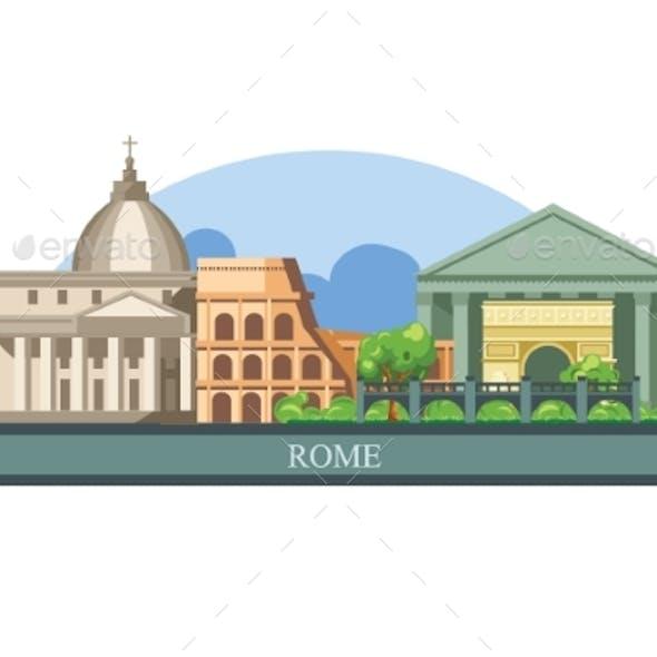 Rome is the Capital of Italy Skyline