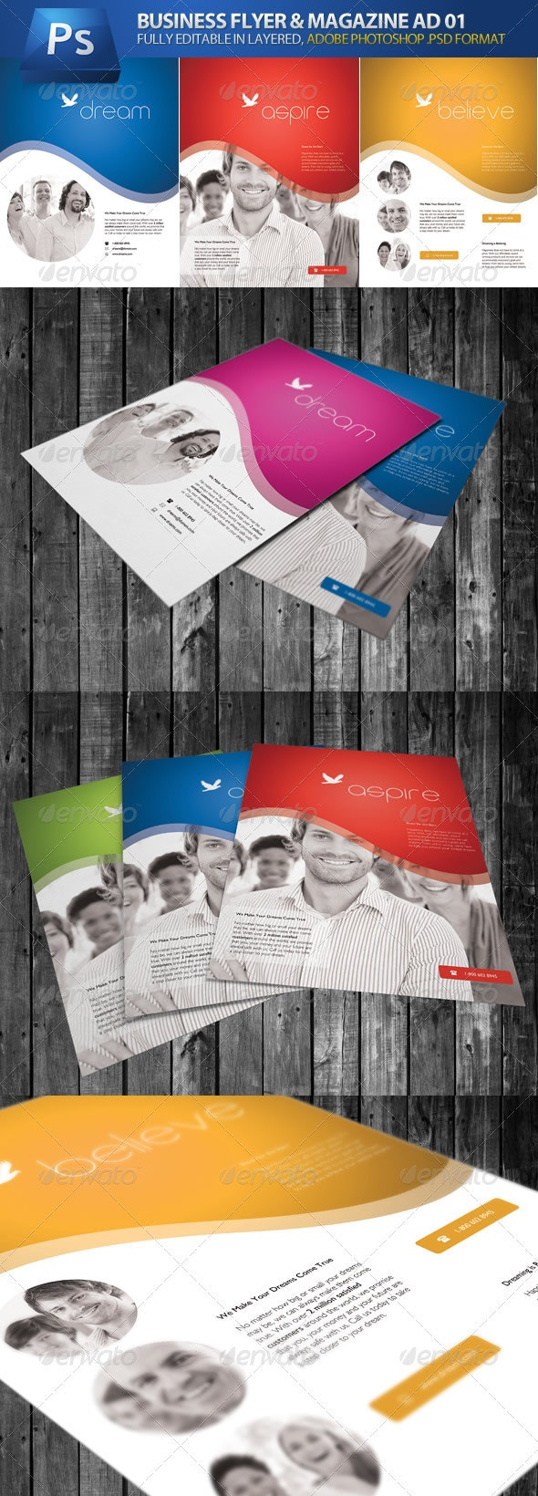 Business Flyer & Magazine Ad 01 - Corporate Flyers