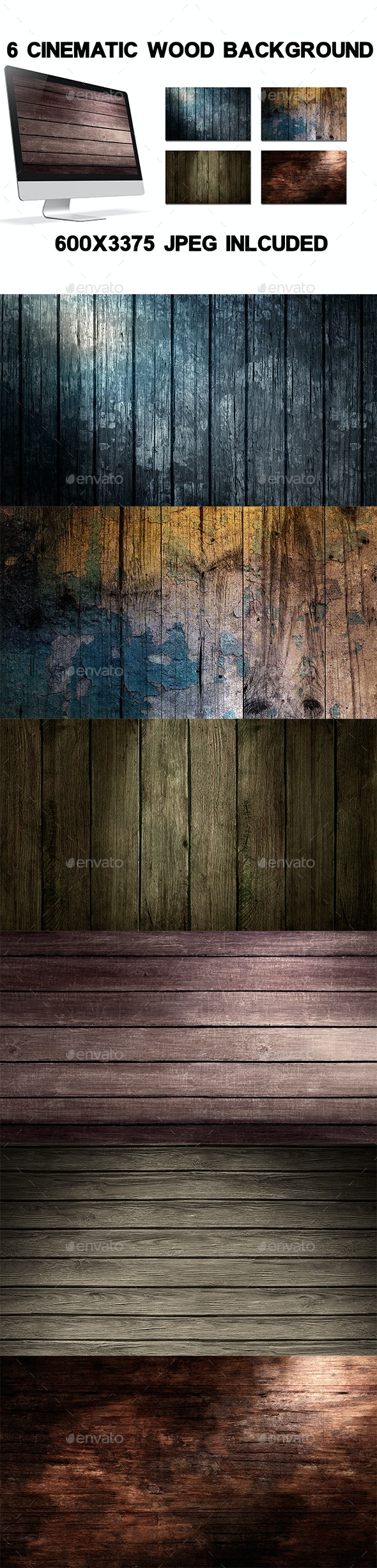Cinematic Wood - Backgrounds Graphics