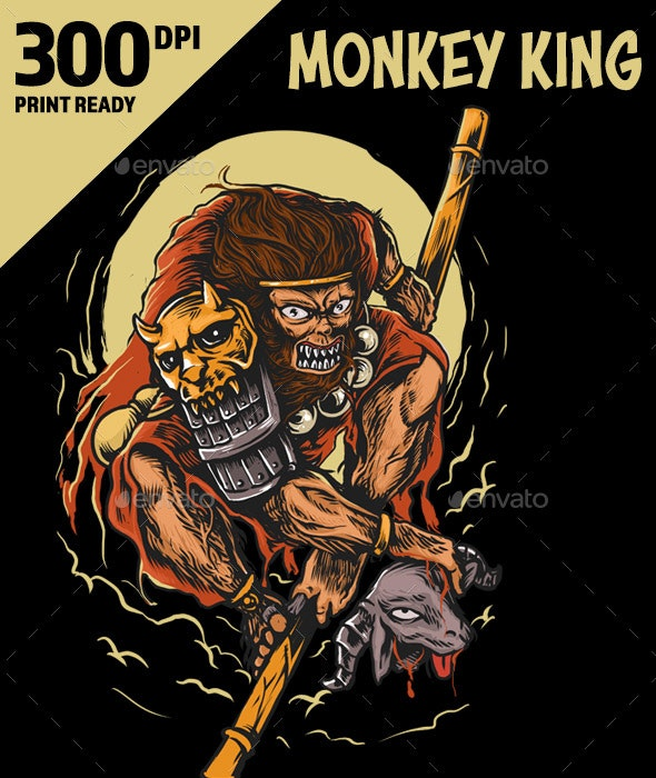 Angry Monkey King - Characters Illustrations