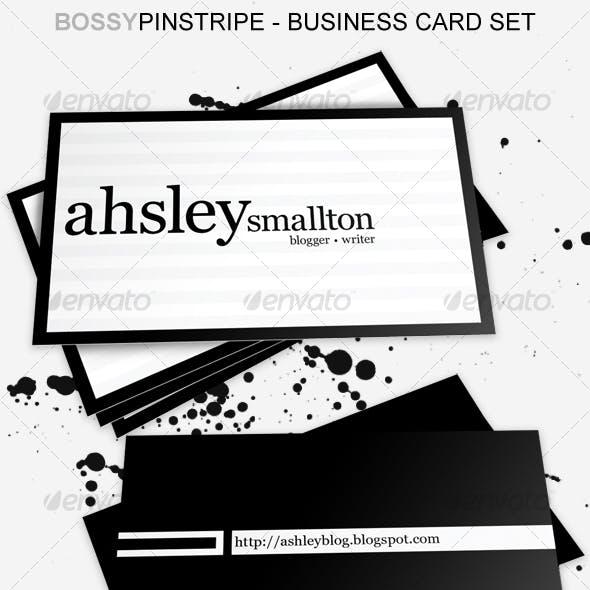Bossy n Miss Pinstripe Business Card