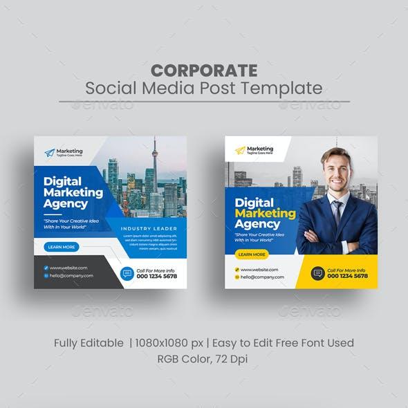 Marketing Social Media Post Banner Template