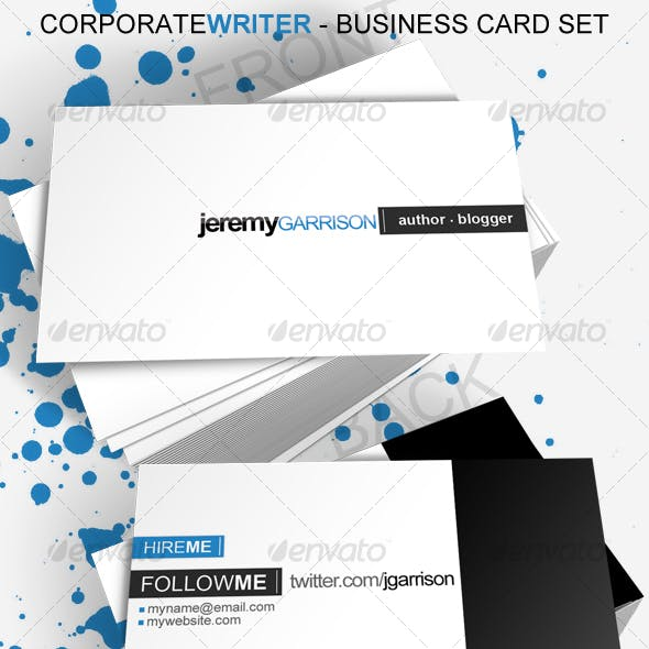 Corporate Writer Business Card
