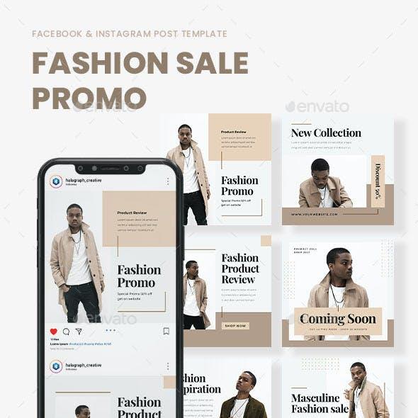 Masculine - Fashion Promo Sale Social Media Template