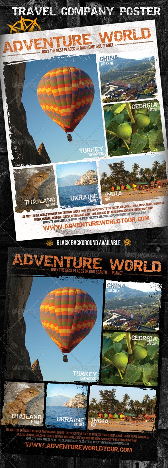 Adventure World Travel Company Poster  - Miscellaneous Events