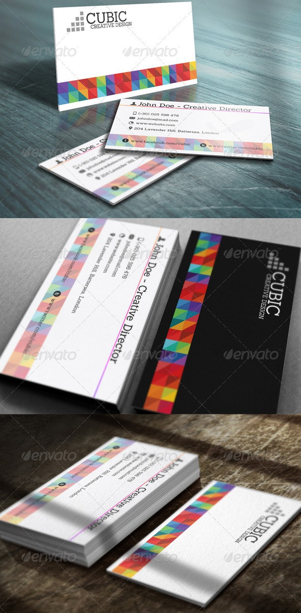 Cubic Business Card - Creative Business Cards