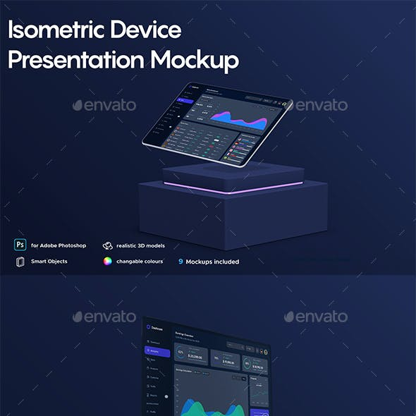 Isometric Device Presentation Mockup