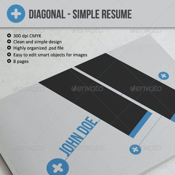 Diagonal - Resume or CV