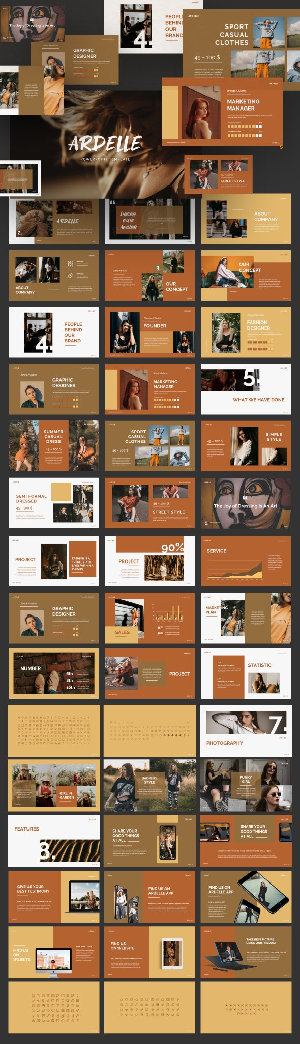 Ardelle Presentation - Abstract PowerPoint Templates