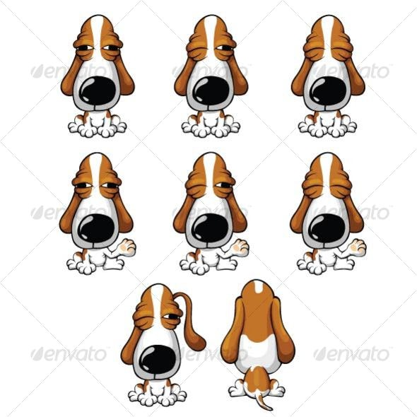 Cartoon Bsaaet Hound - Animals Characters