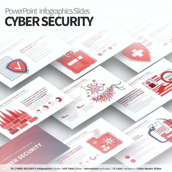 Cyber Security - PowerPoint Infographics Slides
