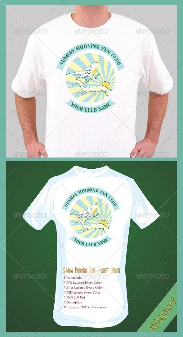 Sunday morning fun club tshirt design - Events T-Shirts