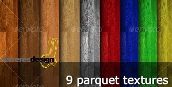 9 Wooden Parquet Textures - Wood Textures