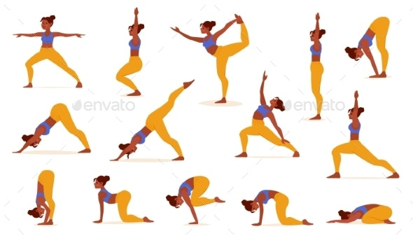 Yoga Poses for Lifestyle Design - Sports/Activity Conceptual