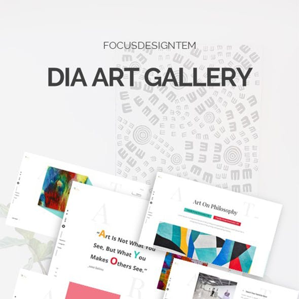 Dia Art Gallery Powerpoint Template