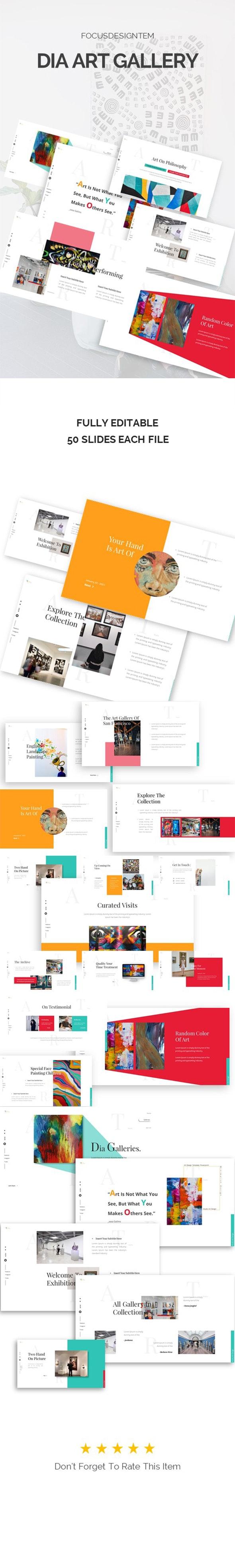 Dia Art Gallery Powerpoint Template - PowerPoint Templates Presentation Templates