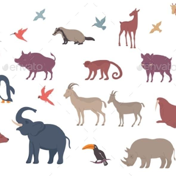 Wildlife Animals Icon Set