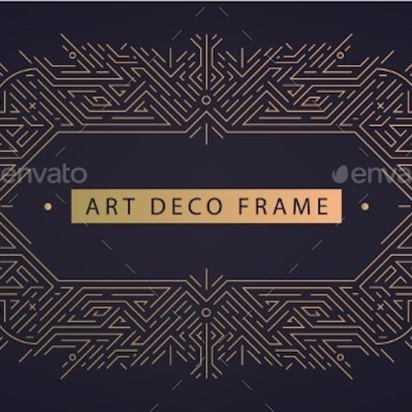 Vector Art Deco Frame Abstract Geometric Design