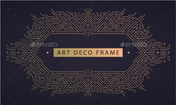 Vector Art Deco Frame Abstract Geometric Design - Miscellaneous Vectors