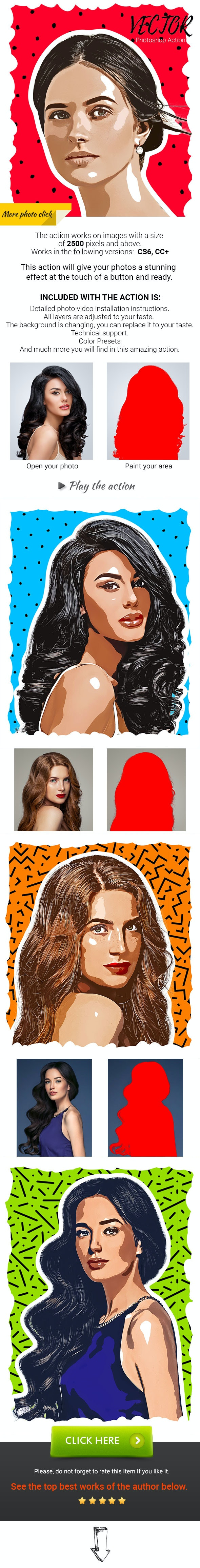 Vector Photoshop Action - Photo Effects Actions
