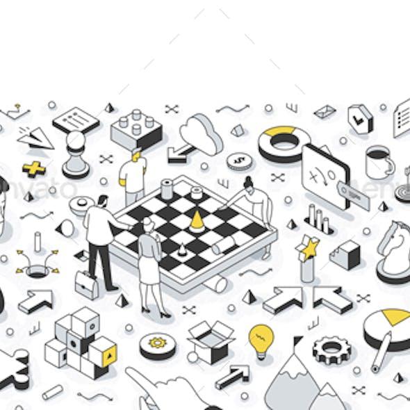 Strategy Isometric Illustration
