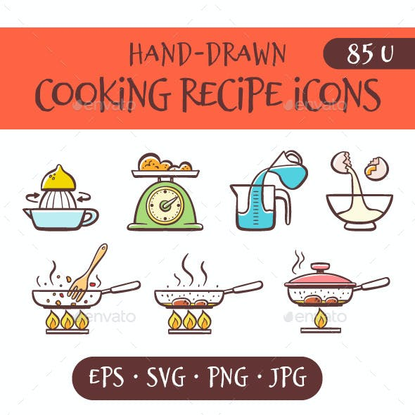 Cooking recipe icons
