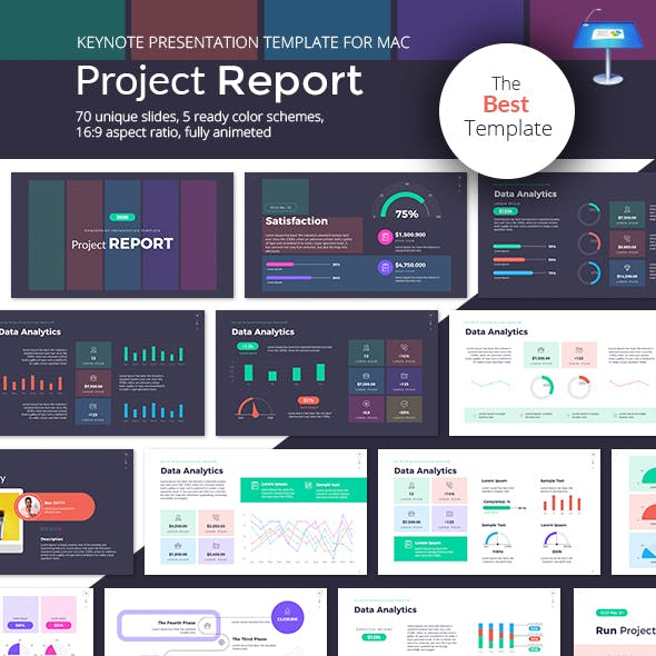 Project Report Keynote Presentation Template