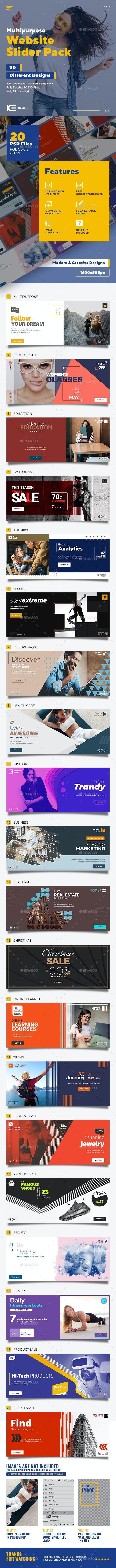 Multipurpose Web Site Slider Pack - Sliders & Features Web Elements