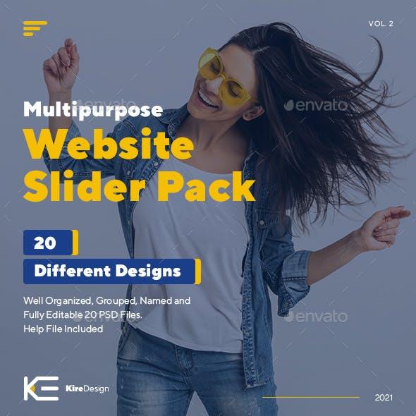 Multipurpose Web Site Slider Pack