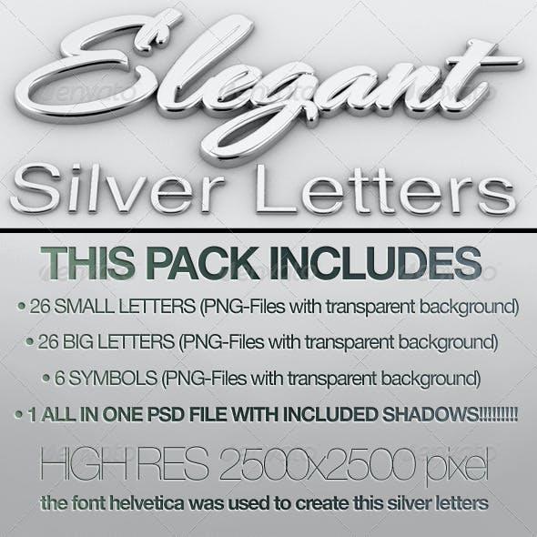 Silver Letters 3D