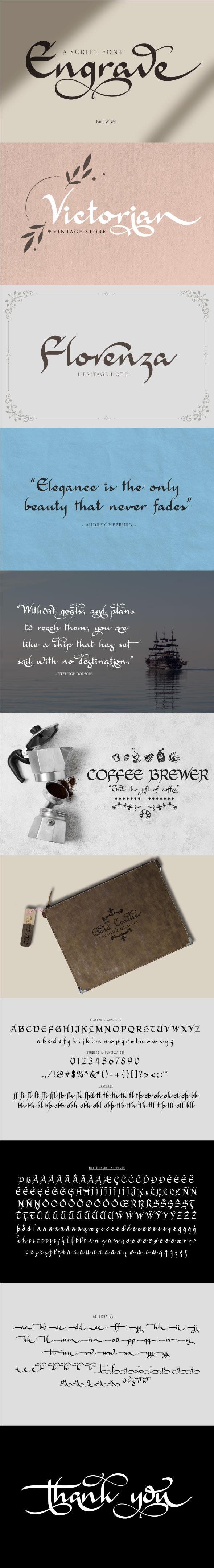 Engrave - Script Fonts