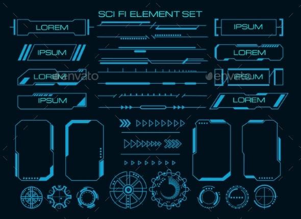 Techno Cyber Ux Elements - Technology Conceptual