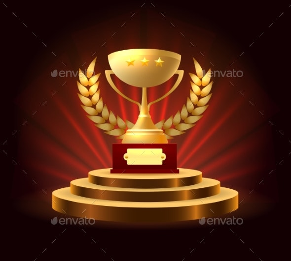 Winner First Position Ceremony - Miscellaneous Vectors